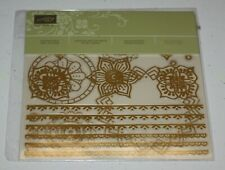 Stampin Up Retired EASTERN GOLD VINYL Stickers NEW 4 Sheets RARE HTF