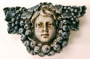 Green man Leaf Girl Face Wall Plaque Antique Reproduction