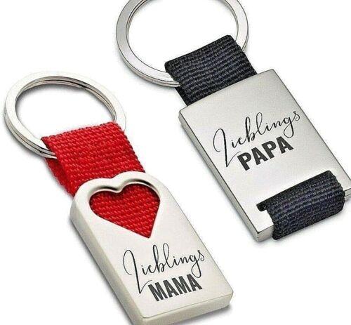 Schlüsselanhänger Lieblingsmama Lieblingspapa aus Metall Geschenk