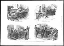 1884 SCHOOL INDUSTRIES IN AUSTRIA - Technical Education sketches (136)
