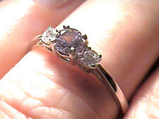 Russian Alexandrite Ring 5 SILVER full color change purple blue sterling 925 sma