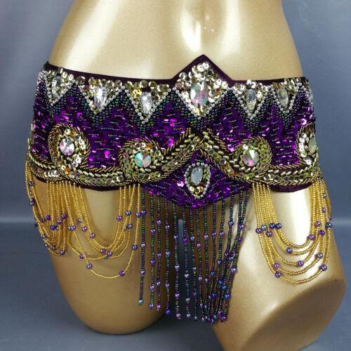 New Women/'s Belly Dance Costume Hip Scarf Wrap belly dancing beaded tassel Belt
