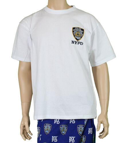 NYPD Short Sleeve T-Shirt with Embroidered Logo White