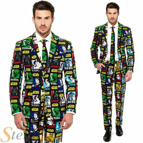 Mens Star Wars Strong Force Opposuit Fancy Dress Costume Suit Adult Outfit