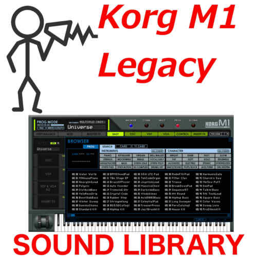 Sound Library Korg M1 Legacy M1ALL Programs Patches D0wnload 30,000 no VST