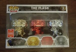 Funko-POP-The-Flash-Justice-League-Chrome-3-Pack-Summer-Convention-2018