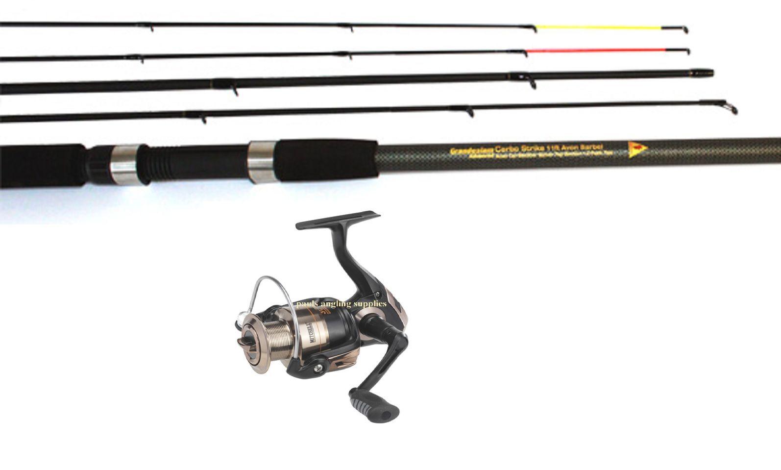 Grandeslam Carbo 11 Ft Barbel  Avon Fishing Rod & Mitchell Avocett 4000 RD Reel