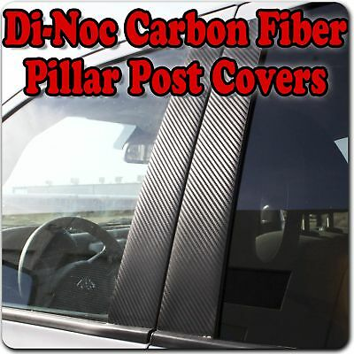 Di-Noc Carbon Fiber Pillar Posts for Mitsubishi Lancer 4dr 08-15 6pc Set Door