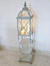 Antico Bicchiere in metallo Candle Lantern scaffalature Libreria VETRINETTA con unità Tall