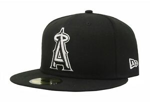 New-Era-59Fifty-Hat-Fitted-Los-Angeles-Angels-Of-Anaheim-Black-White-5950-Cap
