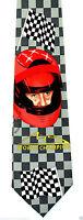 Michael Schumacher Mens Neck Tie Racing Necktie Formula 1 Car Champion Fan