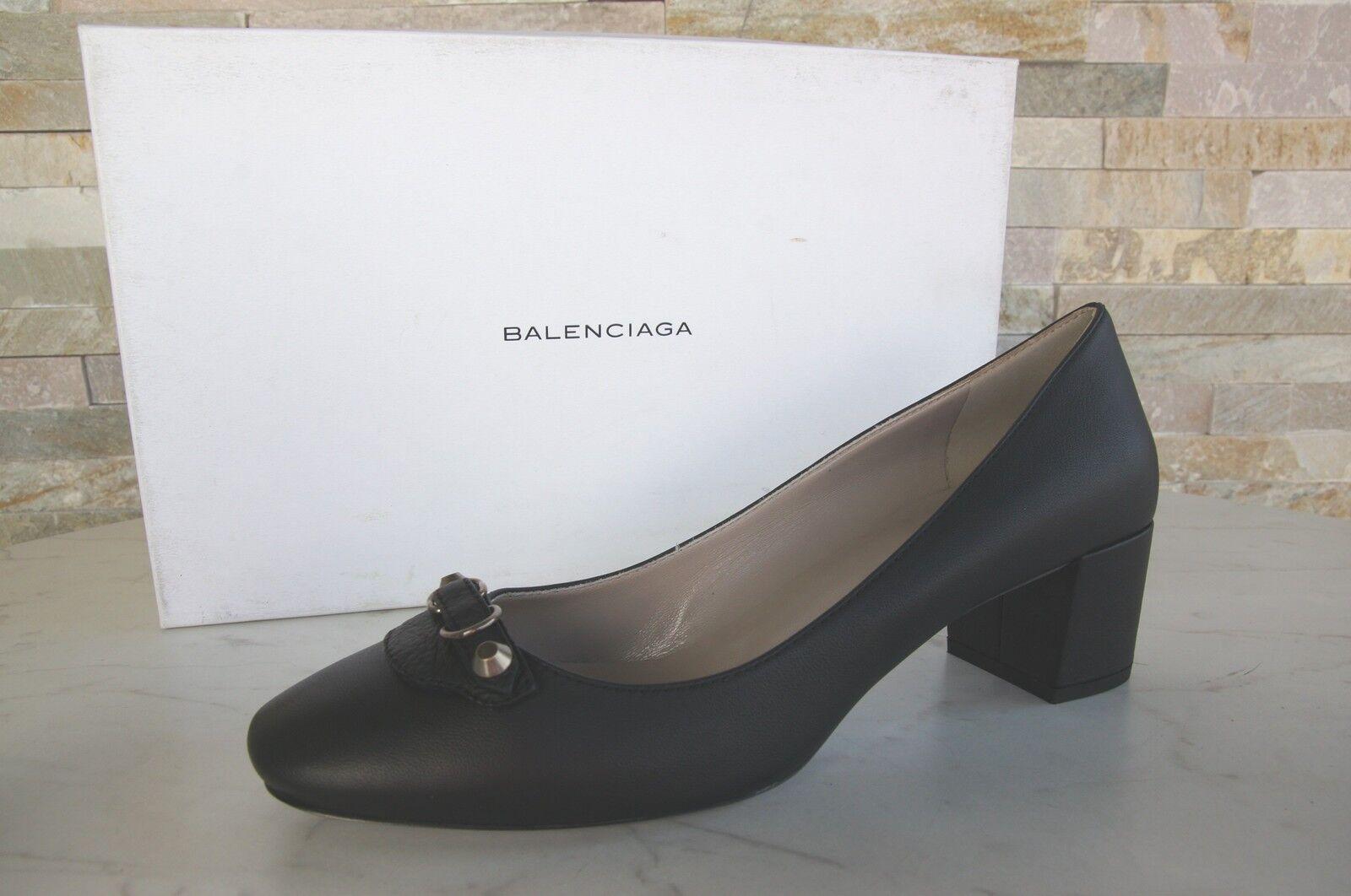 Luxe BALENCIAGA T 41 escarpins Chaussures Basses Pantoufles Chaussures Noir Nouveau Ancien Prix Recommandé