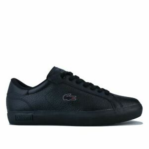 Men's Lacoste Powercourt II Lace up Comfort Trainers in Black