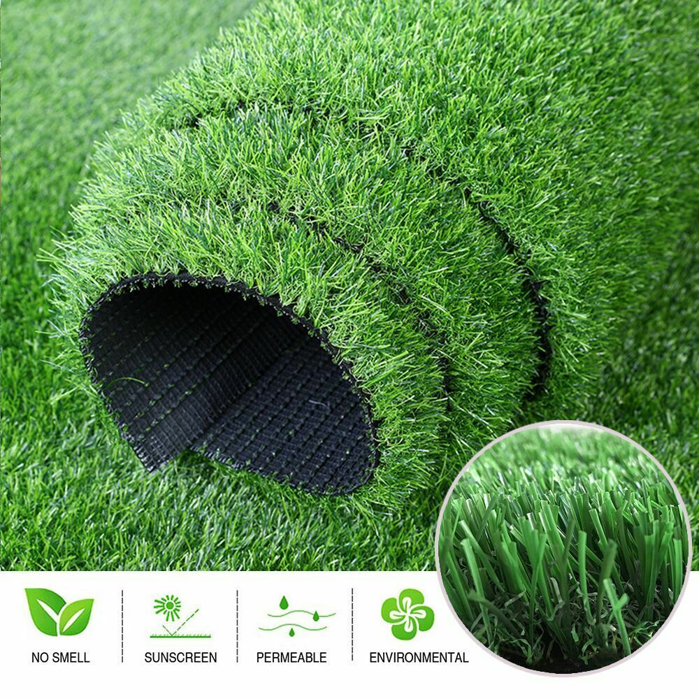 Green Artificial Fake Synthetic Grass Rug Garden Landscape Lawn Carpet Mat Turf For Sale Online Ebay