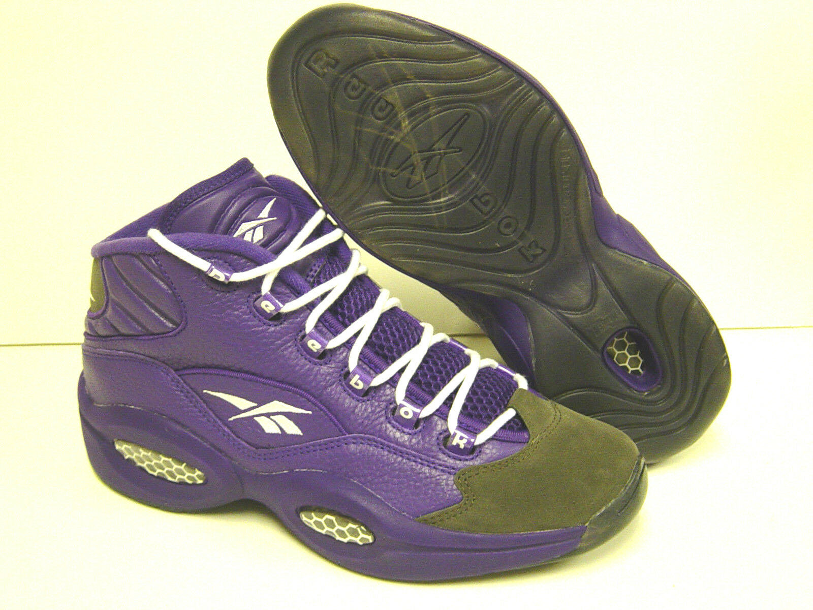 NEW Mens REEBOK Question Mid PE viola SAMPLE AI IVERSON scarpe da ginnastica scarpe Rare DS