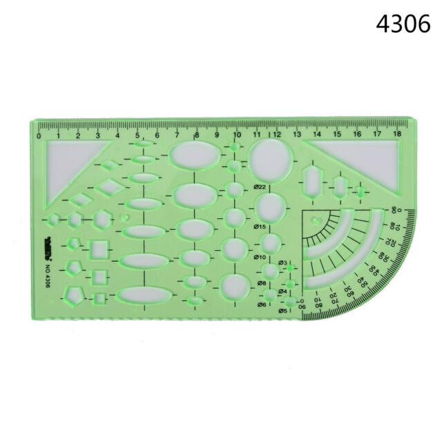 New Plastic Circles Geometric Template Ruler Stencil Measuring Tool