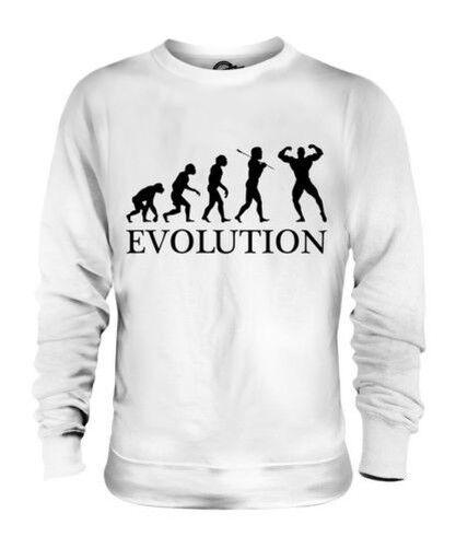 Bodybuilder Evoluzione Umana Unisex Maglione  Herren Damenschuhe Idea Regalo