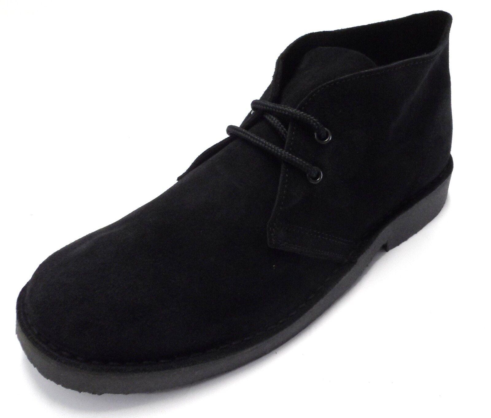 Rétro black Années 70 Mode Style Authentique Bottines Chukka en Daim