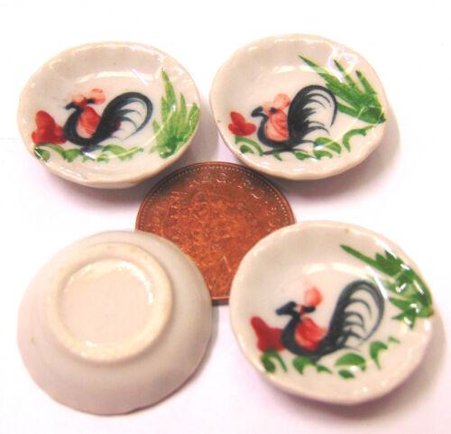 1:12 SCALA 4 in Ceramica Gallo PIATTI tumdee Casa delle Bambole Accessorio da cucina C34
