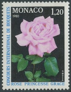 1979-MONACO-N-1200-Fleur-Rose-Princesse-Grace-Flower-MNH