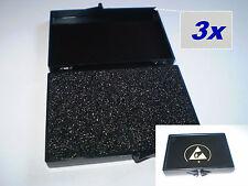 3 Stück IC Dose ESD Antistatik Box 77x55x12mm Schachtel Kunststoff  Bauteile neu