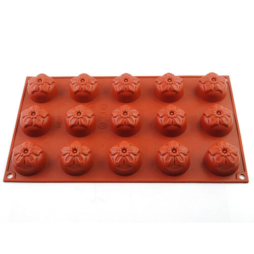 15Cavity Silicone Flower Baking Cake Mold Chocolate Cookie Candy Jelly Ice Mould