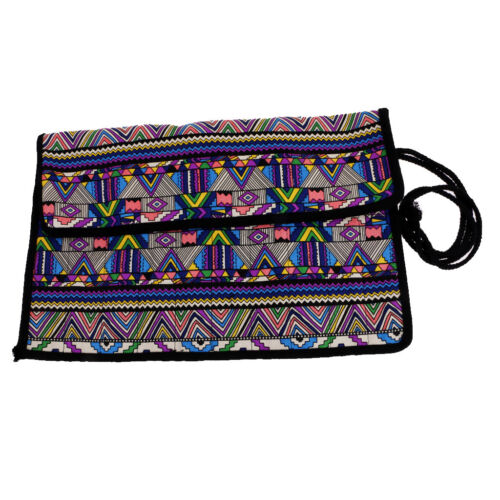 National Style Artist Paint Brush Roll Bag Holder Canvas Pouch Storage Case