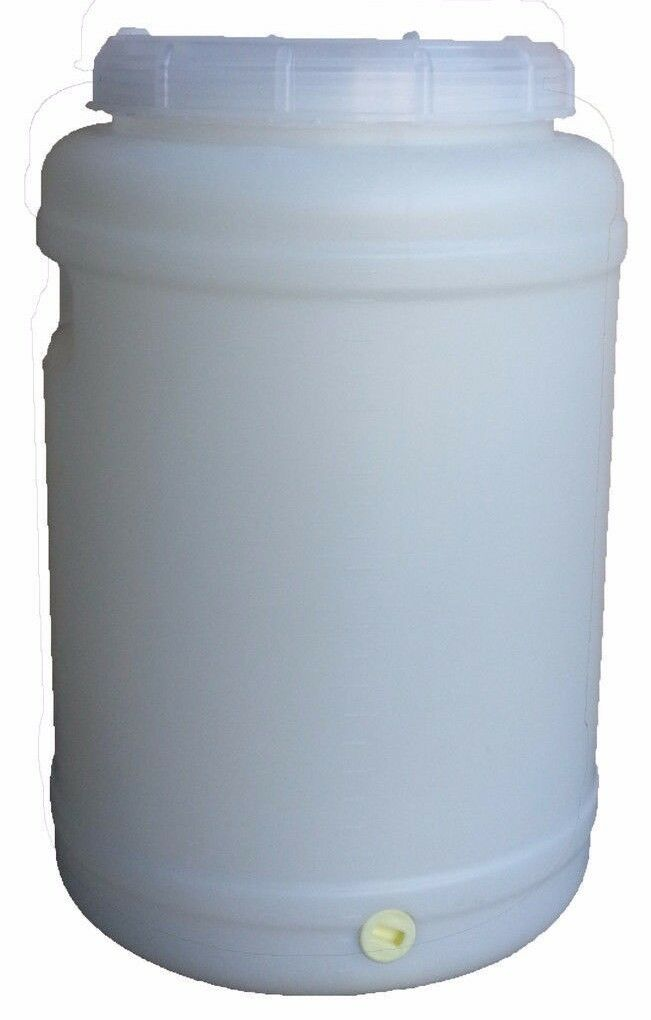 25 Lt Litre Water Storage Container Plastic Fermenter Drum Barrel Tank Home Brew