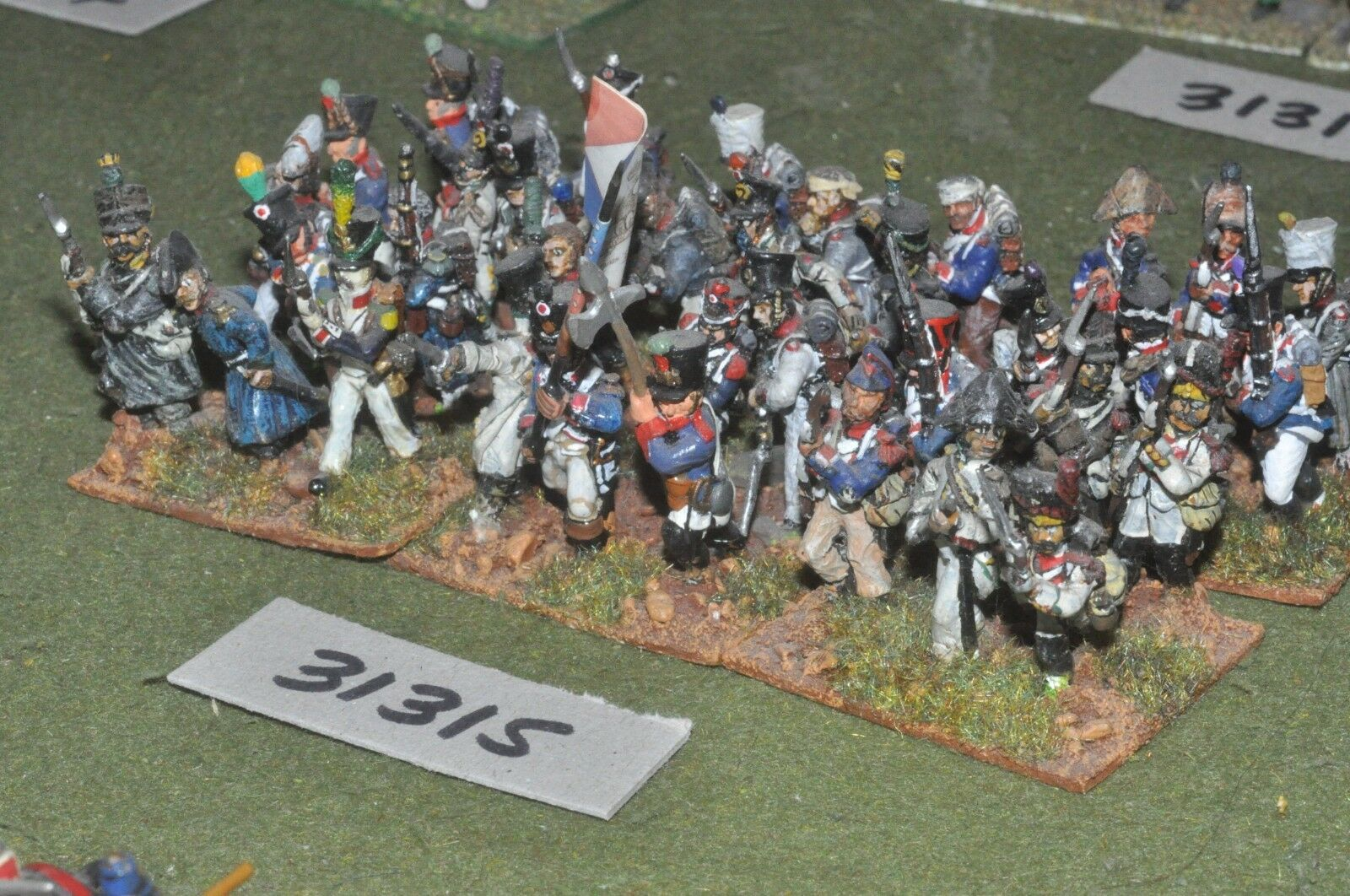 25mm napoleonic   french - line 36 figures - inf (31315)