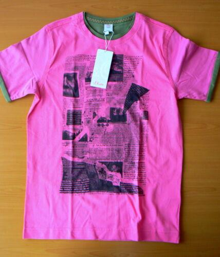 Oliver pink mit Druck 140 oder 152 Zwei-Lagen-Optik S T-Shirt Mädchen Gr
