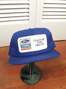 143ff32f Vintage Ford New Holland Tractor Farm K-Products Trucker Snapback ...