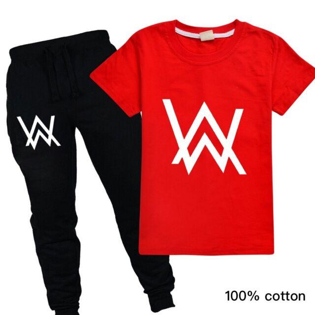 Alan Walker Kids Set Boys Casual Short Sleeve T Shirt Pants Ebay