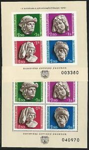 Hungria-De-1976-Perfecto-Estado-Bloque-118-A-B-B-I-MiNr-3118-3121-Skulpturkopfe