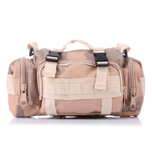 Tactical Utility Molle Waist Pack Men/'s Army Military Assault Bum Hip Belt Bags