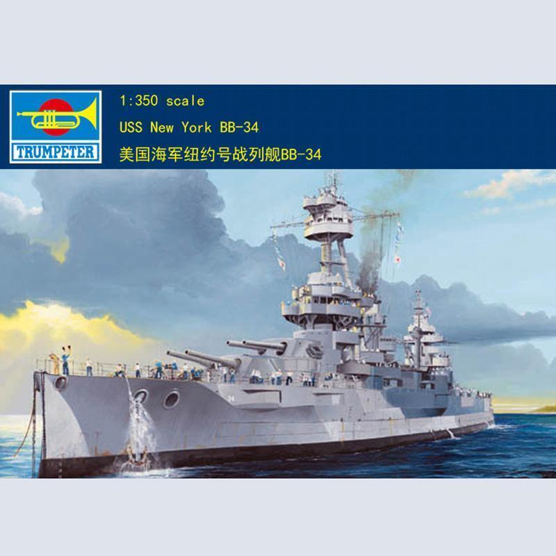 Trumpeter 05339 1 350 USS BB-34 Nueva York buque de guerra asalto Barco Kit plástico modelo