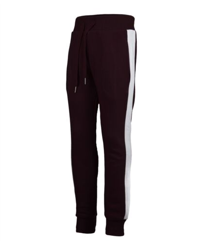 Kids Warm Tracksuit Bottoms Girls Trousers Boys Side Stripped Joggers 3-14 Y