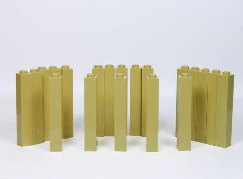 LEGO bricks 1x1x5 x20 panels # TAN pillar column walls castle harry potter