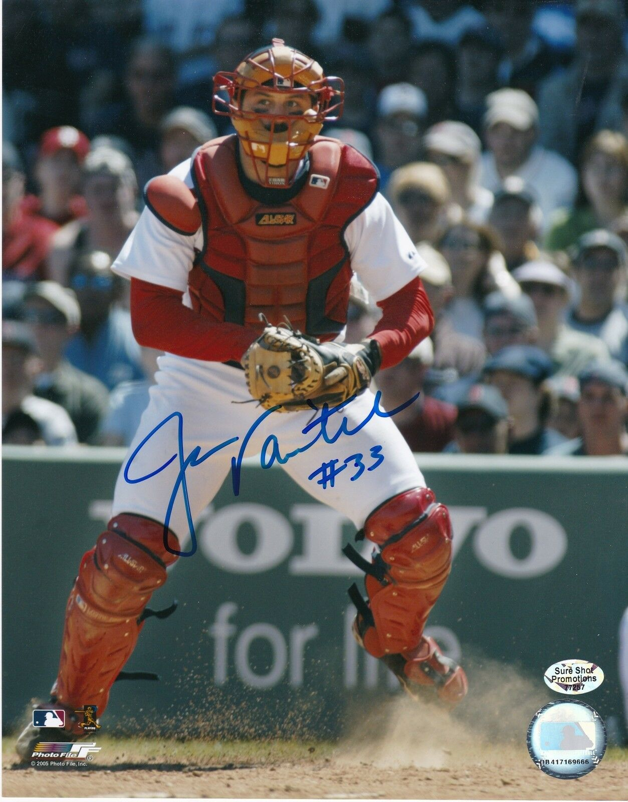 Jason Varitek Boston rojo Sox Action Firmado