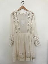 Women's White ASOS Dress Size 6 Bridal Lace Long sleeve