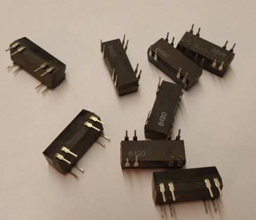 Lot of 2 Magnecraft W171DIP-9 Relay 12vdc .5a SPST-NO w//Clamping Diode DIP