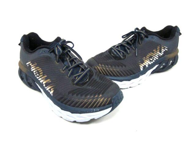 9609e2c4848a Hoka One One Arahi Mens Tennis Running Shoes Midnight Navy metallic ...