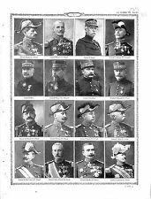 Généraux Général Mangin Brulard d'Amade Dubois Roques Hirschauer Laffon 1915 WWI