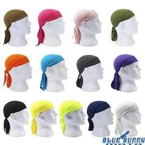 4504a3edddb Pirate Cap HeadWrap Men s Biker Hip Hop Smooth Skull Du Rag ...