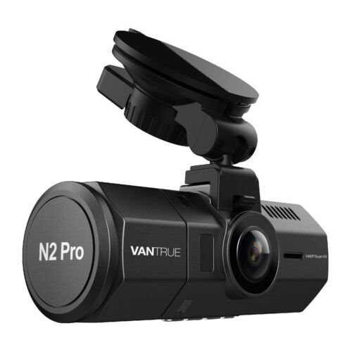 Vantrue N2 Pro Uber Dual Dash Cam 2560x1440P Night Vision Dash Camera 256GB max
