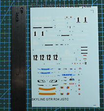 1//64 Calsonic Skyline GTR R34 JGTC B Sports Racing Car Model Kit Water Decal