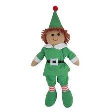 Rag Doll - Christmas Elf - Handmade - Medium 19cms - Powell Craft