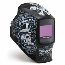 Miller Luckys Speed Shop Digital Elite Auto Darkening Welding Helmet 281001