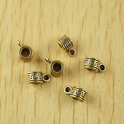 30pcs dark gold-tone spacer bail charms beads h2000