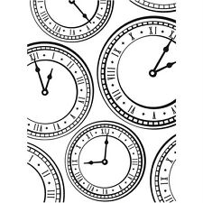 Darice Embossing Folder ~ CLOCK ~ Clocks Background A2   1218-01 082676295713