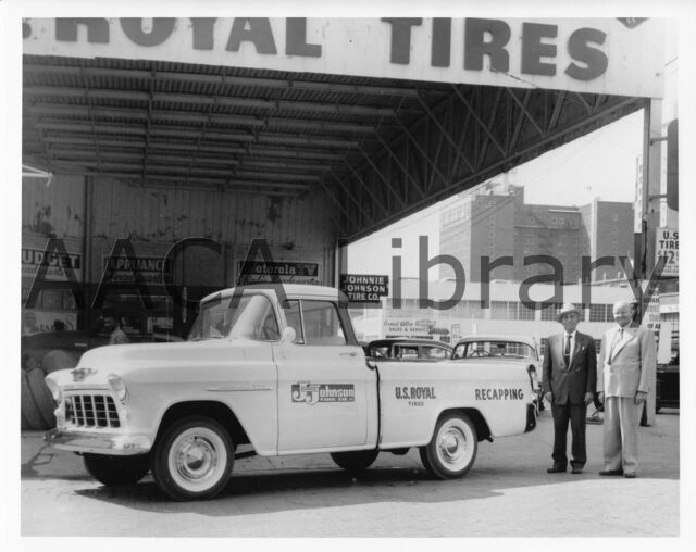 Factory Photo Ref. # 32741 1957 Chevrolet 3124 Cameo Carrier Pickup Truck